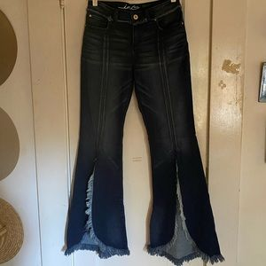 INC extra wide flare w/ distressed slit never worn